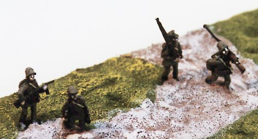 advancing Polish infantry, as painted by manufacturer
